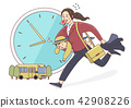 Vector - Illustration of the concept of life and work balance, super mom & business woman concept 006 42908226