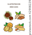 Vector - fruit and vegetable icon set for healthy food on white background 010 42908229