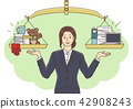 Vector - Illustration of the concept of life and work balance, super mom & business woman concept 001 42908243