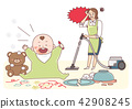 Vector - Illustration of the concept of life and work balance, super mom & business woman concept 004 42908245