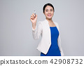 A career woman working in office, business concept stock photo isolated on white background. 274 42908732