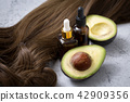 Stock Photo - fresh, ripe avocado, the healthiest fruits. making salad, smoothie, oil by avocado. Perfect food for the diet. 120 42909356