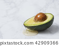 Stock Photo - fresh, ripe avocado, the healthiest fruits. making salad, smoothie, oil by avocado. Perfect food for the diet. 121 42909366