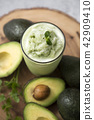 Stock Photo - fresh, ripe avocado, the healthiest fruits. making salad, smoothie, oil by avocado. Perfect food for the diet. 064 42909410