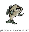 Crappie Fish Standing Mascot 42911157