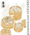 香港,食物插畫,小籠包 42912682