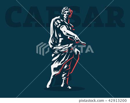 Caesar. Vector emblem. 42913200