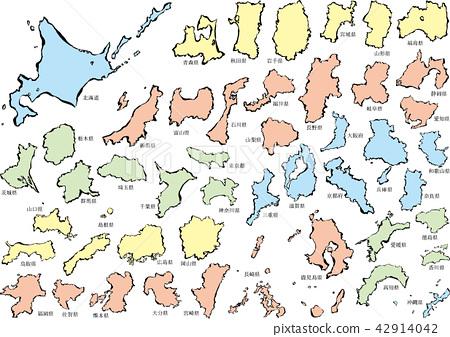 Japan map _ brush c 42914042