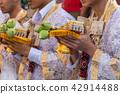 Ordination ceremony in buddhist change man to monk 42914488