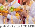 Ordination ceremony in buddhist change man to monk 42914490