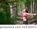 deep, breath, female 42916025