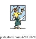 창문을 닦는 엄마 42917020