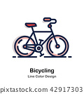 Bicycling Line Color  42917303