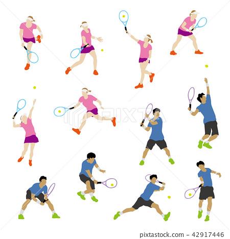 網球運動員 42917446