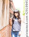 亞洲台灣台中霧峰林家花園古厝攝影女性女人人像人物肖像 42919945