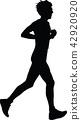 runner silhouette jogging 42920920