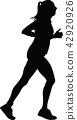 runner, marathon, silhouette 42920926