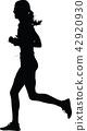 runner, marathon, silhouette 42920930
