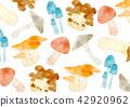 蘑菇 秋之美食 木材背景 42920962