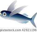 vector, vectors, flying fish 42921196