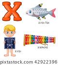 Illustration of X alphabet 42922396