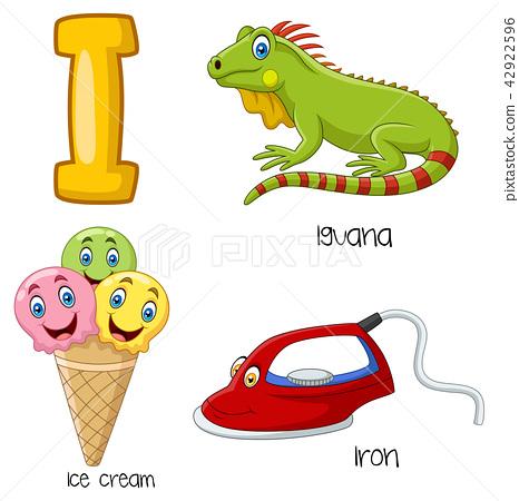 Illustration of I alphabet 42922596