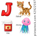 Illustration of J alphabet 42922597