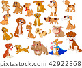 Cartoon dogs collection 42922868