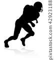 American Football Player Silhouette 42923188