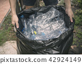 Plastic bottle in trash for recycle and reduce  42924149