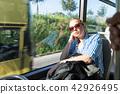 bus, woman, passenger 42926495
