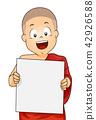 Kid Boy Monk Board Illustration 42926588