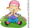 kid, girl, smell 42926611