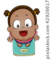 Kid Girl Toddler Weighing Scale Illustration 42926617