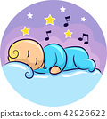 Baby Sleep Lullaby Illustration 42926622