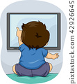 Toddler Boy Watch Illustration 42926645