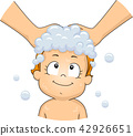 Toddler Girl Shampoo Illustration 42926651