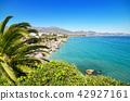 Nerja coastline landscape Malaga Andalusia, Spain. 42927161