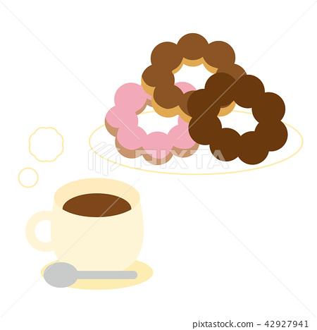 甜甜圈 咖啡 点心 42927941