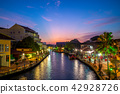 landscape of the old town in melaka (malacca) 42928726