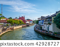 landscape of the old town in melaka (malacca) 42928727