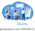 Modern business consulting flat design cartoon 42928741