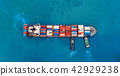 Aerial view cargo ship or shipping container. 42929238