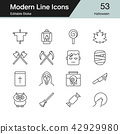 Halloween icons. Modern line design. 42929980