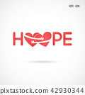 """Hope"" typographical.Hope word icon.Breast Cancer 42930344"