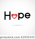 """Hope"" typographical.Hope word icon.Breast Cancer 42930345"