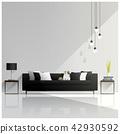 Modern living room design , Interior background 42930592