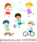 Kids in various sport activity vector 42930984