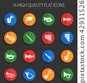 wind instruments 16 flat icons 42931526