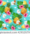 Summer tropical seamless pattern with fruits 42932079